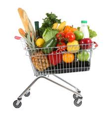 shopping cart food
