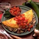 Tasty Chicken, Zucchini, & Mushroom Omelette
