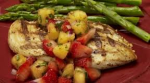 grilled chicken with strawberry and mango