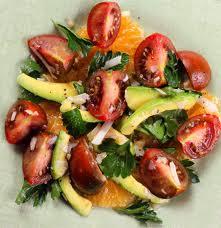 tomato and avocado